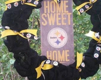 Pittsburgh Steelers home sweet home wreath