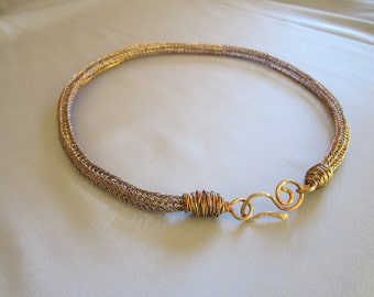 Copper Viking Knit Necklace