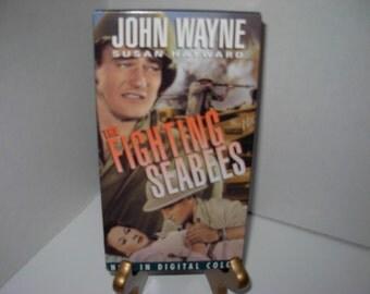 The Fighting Seabees, VHS Tape, John Wayne, Susan Hayward, Digital Color, Free Shipping