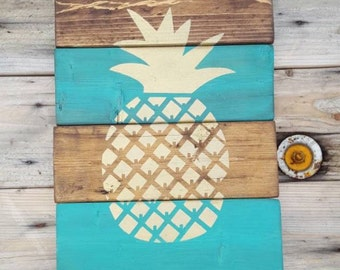 Wood sign, Pineapple sign, Pineapple pallet sign, Reclaimed wood, Wood wall art, Wooden signs