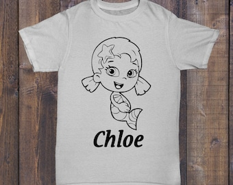 Bubble Guppies Personalized Coloring T-Shirt