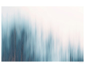 Abstract Photography PRINT, Ice Blue -1, Wall Art