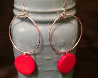Sterling earrings with vintage 80's beads