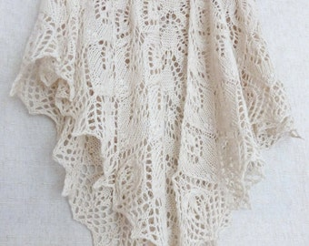 Bridal Shawl. Cashmere Wedding Shawl. Knitted Shawl. Shawl For Wedding, White Shawl, Hand Knit Shawl. Knit Scarf. Openwork Wrap