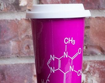 Molecular Structure of Caffeine Latte Mug