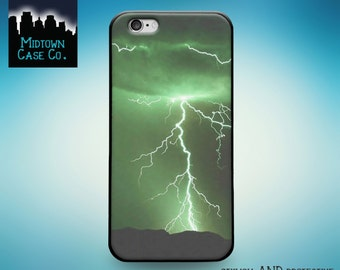 Lightning Bolts Green Sky Awesome Cool Amazing Electric Case iPhone 6s Plus iPhone 6 Plus iPhone 6s iPhone 6 iPhone 5s iPhone 5 iPhone 5c