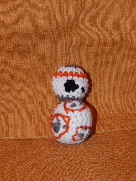 Star Wars: BB-8 inspired crochet figure amigurumi guy or