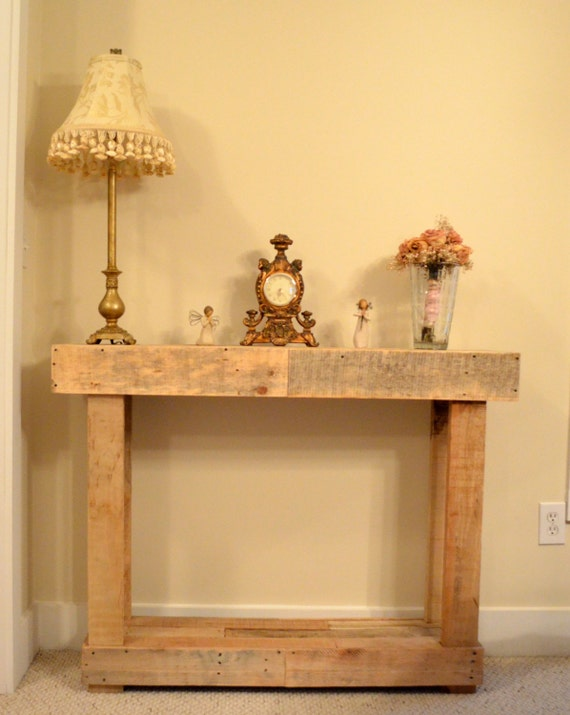 Foyer Table Etsy : Items similar to rustic hall entry table or sofa