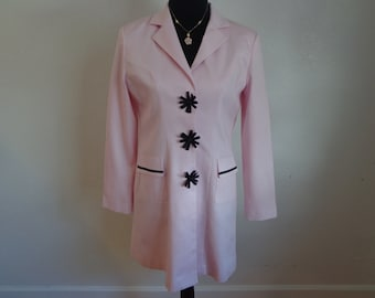 Sooooo Cute Vintage Pink and Black Ribbon Jacket