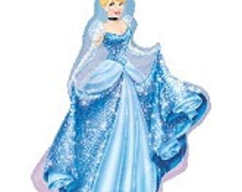"Cinderella Balloon, Princess Theme, Disney Princess Theme, Party Decorations, Birthday Party, Sleepover, Disney Theme, Cinderella Theme, 40"""