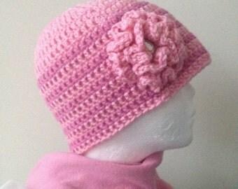 PINKY...Crocheted Women's Hat