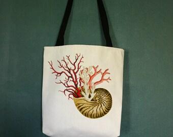 Beach Bags with Sea Shell Design, Designer Beach Bag, Large Beach Tote Bags, Beach Theme Gifts, Beach Decor