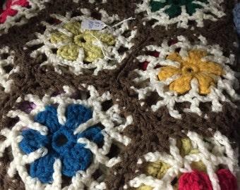 Multi-Colored Crochet Throw