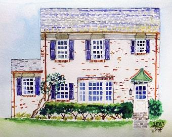 Custom Building Portrait - Watercolor