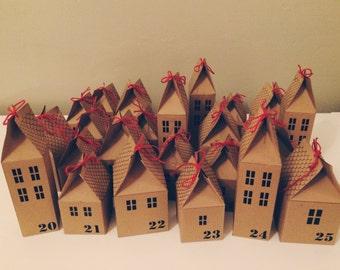 Print your own DIY Advent Calendar Houses