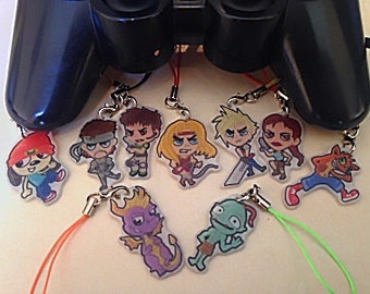 """Classic Games 1"""" Keychains/Charms"""
