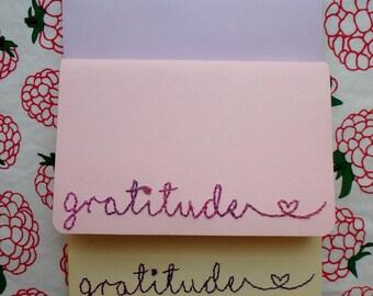 Custom Hand Embroidered Gratitude Moleskine Journal