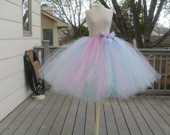 Pink and Aqua adult tutu skirt. Easter tutu. Bachelorette tutu. Bridesmaid tutu. More color options available!!!!