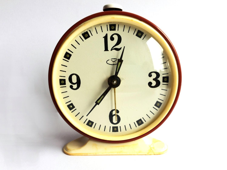 Alarm clock. Soviet clock. Vintage russian alarm clock by ...