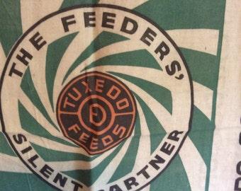 Vintage 1940's TUXEDO FEEDS 100 Lb. Scratch Feed Sack