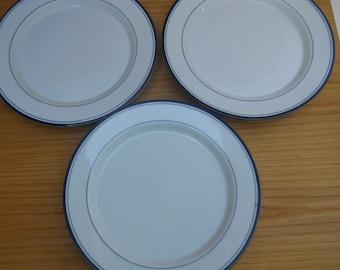 "Six Concerto Allegro Blue 11"" Dinner Plates by  Dansk"
