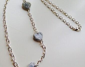 Sale | Hearts | Valentine | Glitter | Love | Asymmetric | Charm | Necklace