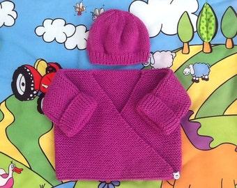 Baby Hat baby gift newborn baby knitting Wool Cardigan jacket