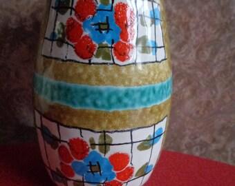 Vintage retro 1960's Italian pottery vase 7451
