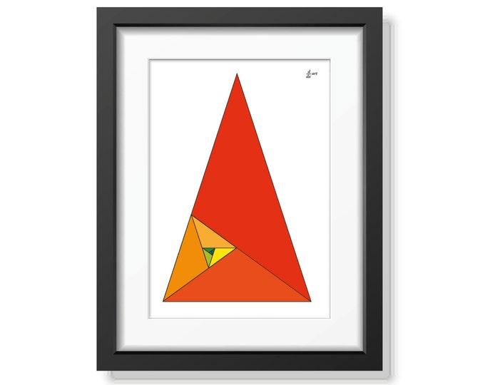 Fibonacci tiangles 01 [mathematical abstract art print, unframed] A4/A3 sizes