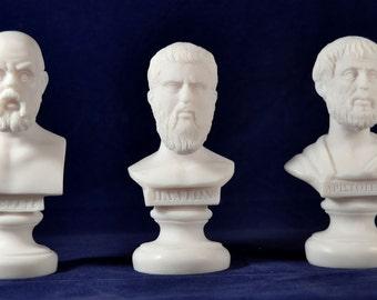 Socrates ,  Plato, Aristotle  Bust greek Great Philosophers Set  NEW