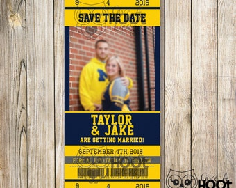 Ticket Save The Date Magnet