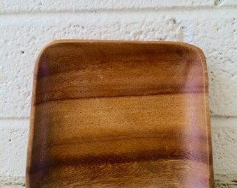 Teak Wood Square Serving Plate