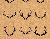 Deer Antler SVG, Deer Horns vector graphic, Deer Antler clipart , svg files, ID#CL7