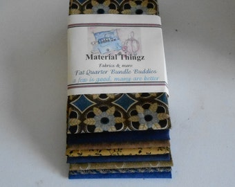 Fat Quarter Bundle Buddies in blues and golds