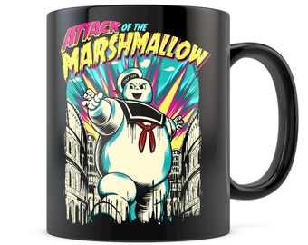 Attack Of The Marshmallow Man Stay Puft Ghostbusters Coffee Mug Funny Awesome Movie Gift Slimer Venkman Stanz