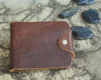 Mens Wallet Leather Wallet Dark Brown Bifold Wallet Card Case Handmade Leather Wallet,