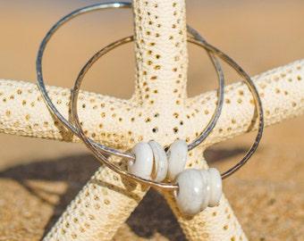 Puka Shell Beach Bangle Bracelet