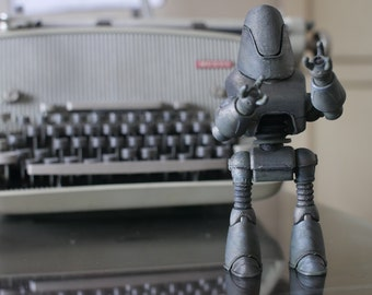 Protectron Figurine - 3d Printed Fan Made Fallout Robot Protecton Action Figure
