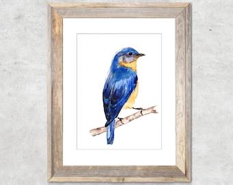 "Bluebird Original Watercolor Painting 5x7"""