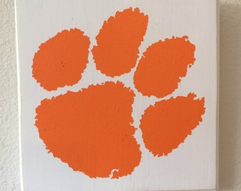 Clemson Block Wall Hang