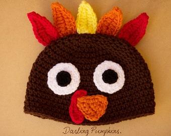 Turkey hat crochet beanie all sizes