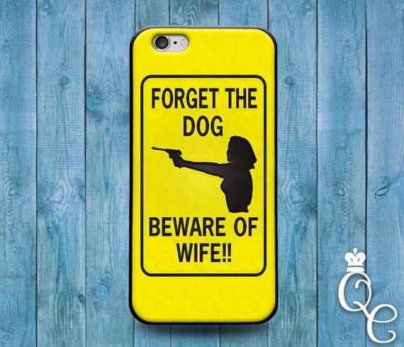 iPhone 4 4s 5 5s 5c SE 6 6s 7 plus iPod Touch 4th 5th 6th Gen Cute Funny Wife Husband Yellow Black Quote Meme Dog Phone Cover Gun Fun Case