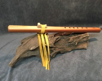 Handcrafted Native American Style Flute - Made From Premium Grade Redwood (Serial No. 0024)