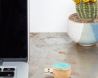 16GB Copper And Oak USB Flash Drive, USB Stick, Handmade, Eco Gift