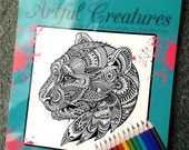 Artful Creatures Coloring Book for Adults by Jan Bevins