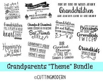 SVG Files Grandparent Theme Bundle - Commerical Use Ok- Huge Savings - Silhouette Cameo - Cricut- Vinyl Projects - Diy
