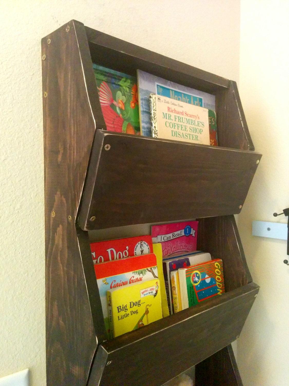 Nursery decor toy storage bin kids book shelf by for Toy and book storage