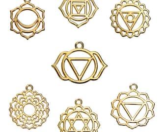 7 Chakras Charm Set [Gold or Silver]