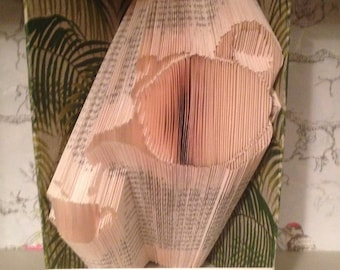 Folded book art teapot and cup
