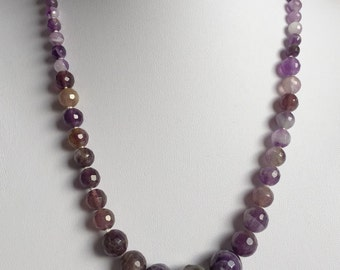 Amethyst hand knotted necklace